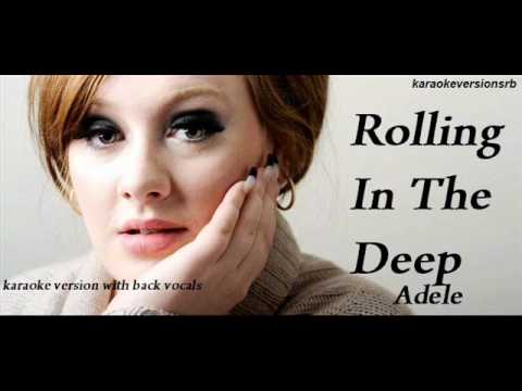 Adele - Rolling In The Deep (karaoke version with back vocals)