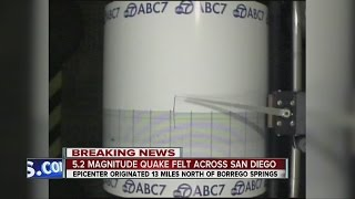 5.2M quake strikes near Borrego Springs