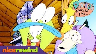 Rocko and Mr. Bighead Book the Same Cabin | Rocko's Modern Life | NickRewind