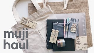 MUJI HAUL // back to school // stationery // reusable bags