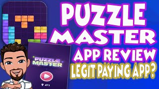PUZZLE MASTER APP REVIEW    LEGIT PAYING APP?    FREE PAYPAL MONEY?