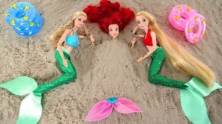 Mermaid Barbie Rapunzel Ariel Beach Pool Party Hair salon Putri duyung Boneka Barbie Sereia Boneca