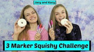 3 Marker Squishy Challenge ~ Jacy and Kacy