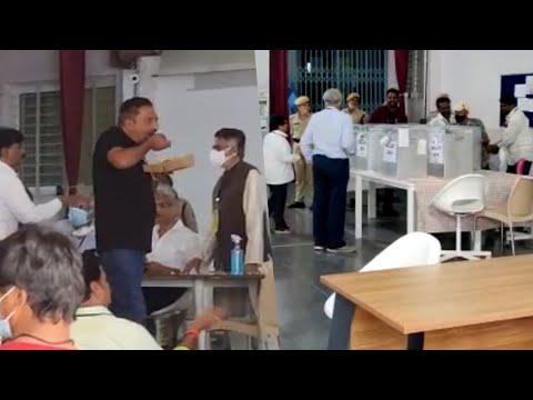 MAA Elections 2021: Visuals after voting- Prakash Raj, Mohan Babu and other MAA members