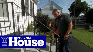 How to Repair a Rusted Wrought Iron Railing | This Old House