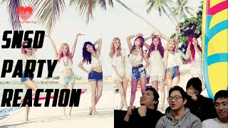 [4LadsReact] GIRLS' GENERATION (SNSD/소녀시대) - PARTY MV Reaction