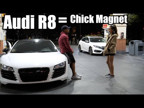 Picking up GIRLS in AUDI R8! (Like A BOSS)