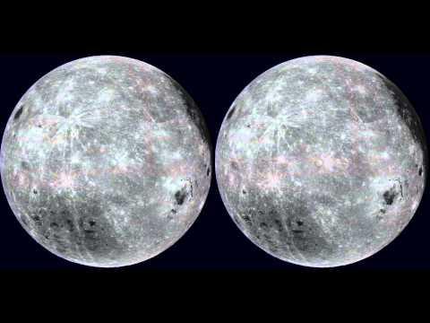 3D Fully Rotating Moon #VR #CardBoard #VirtualReality Version
