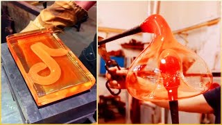 People With Satisfying Glass Blowing Art Skills. ▶️2