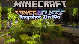 Exploring Lush Caves in Survival! ▫ Minecraft 1.17 Snapshot 21w10a ▫ Caves & Cliffs Update