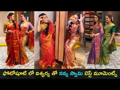 TV actresses Navya Swamy and Aishwarya Pisse have fun during photoshoot