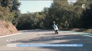 Les scooters électriques Artelec dans l'émission Midi en France