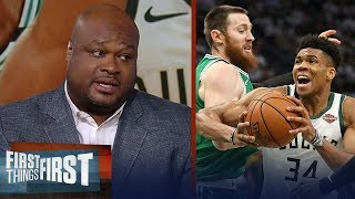 Giannis dominates in Bucks' Game 2 win over Celtics - Antoine Walker | NBA | FIRST THING FIRST
