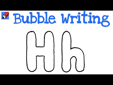 How to Draw Bubble Writing Real Easy - Letter H - YouTube