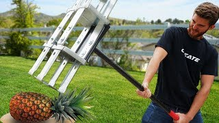 We built the ULTIMATE Apocalypse Survival Sledge Hammer!! *VS FRUIT*