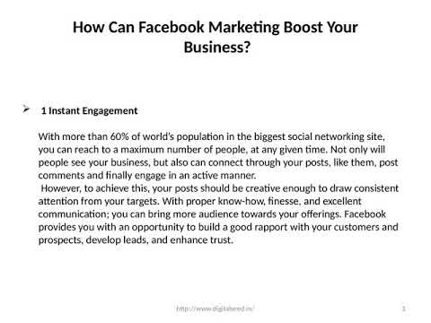 How Can Facebook Marketing Boost Your Business? – Digitalseed |  Digital Marketing company in pune