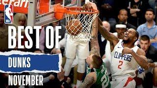 NBA's Best Dunks | November 2019-20 NBA Season