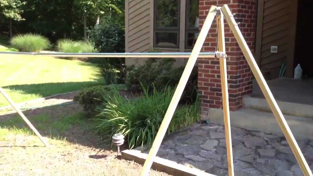 Diy Portable Camping Hammock Stand Youtube
