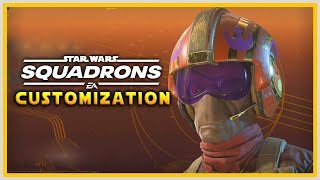 All Star Wars Squadrons Ship Components & Pilot Customization
