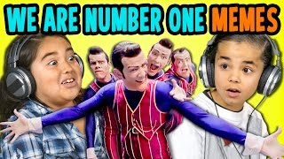 WE ARE NUMBER ONE BUT KIDS REACT TO IT