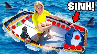 100 Button Mystery BOAT!.. One Button SINKS You!