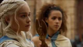 Don't mess with Daenerys Stormborn of Targaryen. Speaking Valyrian. Season 3, episode 4.