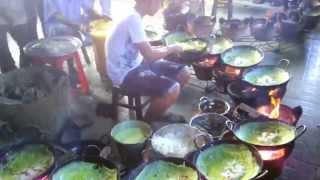 Đẳng cấp đổ bánh xèo tại chùa Bánh xèo An Giang