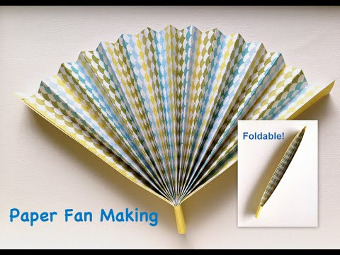 Painting Folding Hand Fan Tutorial