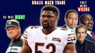 Why the Raiders Won the KHALIL MACK Trade (and why Everybody was Wrong)
