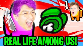 Can We Play AMONG US But IN REAL LIFE!? (LANKYBOX FUNNY MOMENTS)