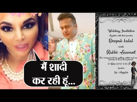 Rakhi Sawant shares her wedding invitation card; her fiance too shared funny video