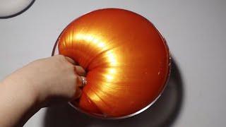How To Make Jumbo Golden Orange Jiggly Slime ♡ Super Glossy and Jiggly Golden Slime Tutorial
