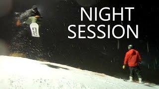Night Snowboarding at Coronet Peak New Zealand