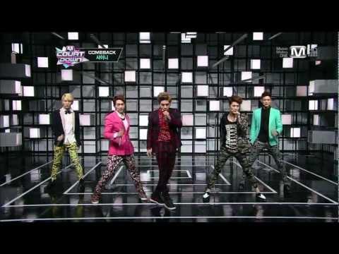 [SHINee] 130221 m count-Comeback(Beautiful+Dream Girl)