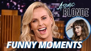Charlize Theron Wants Sofia Boutella To Be Her Girlfriend!!! (Funny Moments)