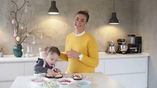 Chokoladetærter med pistacie praliné - påskekage - Ditte Julie
