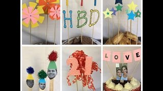 6 DIY Cake Toppers