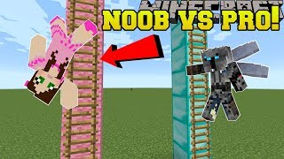 Minecraft: NOOB VS PRO!!! - KING OF THE LADDER! - Mini-Game