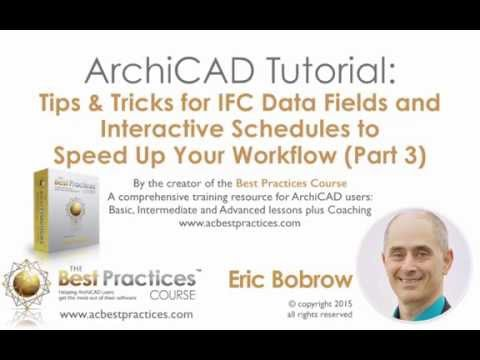 ArchiCAD Tutorial | Specifications Tips & Tricks with IFC Fields | Part 3 of 4