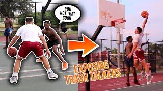 TRASH TALKERS Were HACKING At The Park So I Went OFF! (Mic'd Up 5v5)