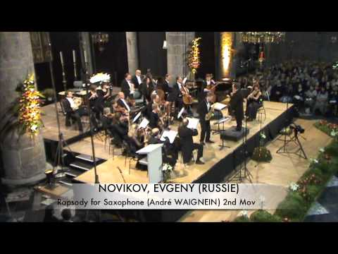 NOVIKOV, EVGENY (RUSSIE) Rhapsodie for Saxophone part 2