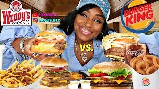 Burger King Triple Vs  Wendy's Triple Cheeseburger