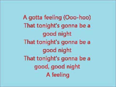 Black Eyed Peas - I Got A Feeling lyrics - YouTube
