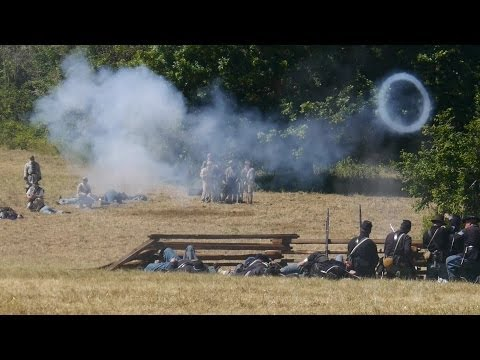 Civil War Battle, Willamette Mission State Park 2014 - 4K 3D Pt 1