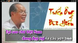 Trách ông Bùi Hiền karaoke | Chế trách ai vô tình | HOT nhất 2017