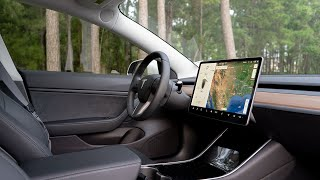 Tesla Model 3 2019 Q2 Black Interior Tour