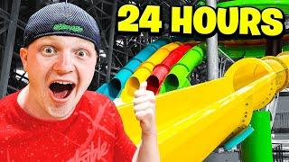 24 HOUR OVERNIGHT WATERPARK CHALLENGE!