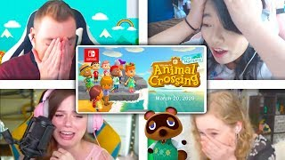 All Reactions to ANIMAL CROSSING: NEW HORIZONS Gameplay Reveal Trailer for Nintendo Switch