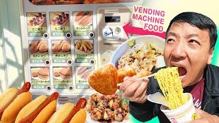 Eating ONLY VENDING MACHINE FOOD & CREEPY Vending Machines in Tokyo Japan