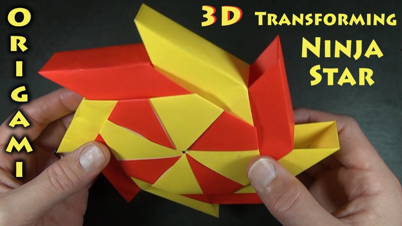3-D Transforming Ninja Star designed by Ray Bolt - YouTube - photo#7